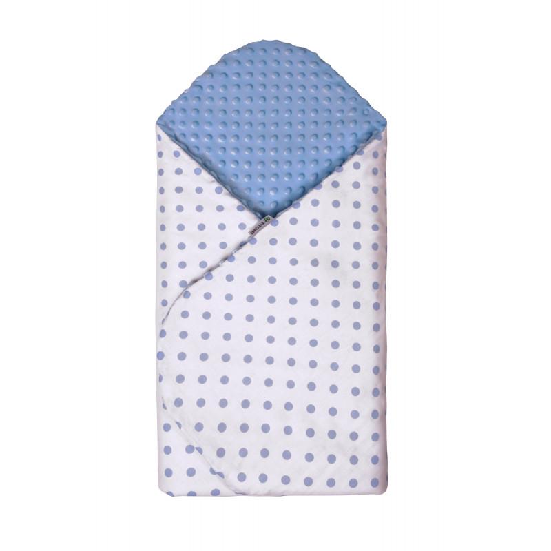 Rýchlozavinovačka MINKY, white / blue dots
