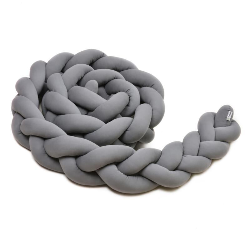 Pletený mantinel 180 cm, anthracite