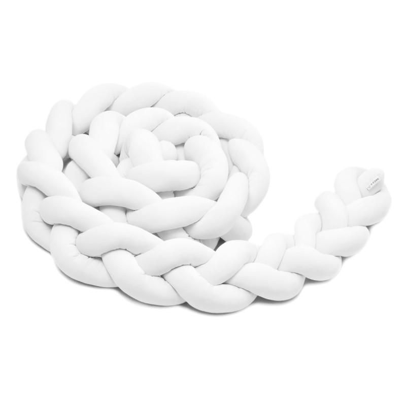 Pletený mantinel 180 cm, white