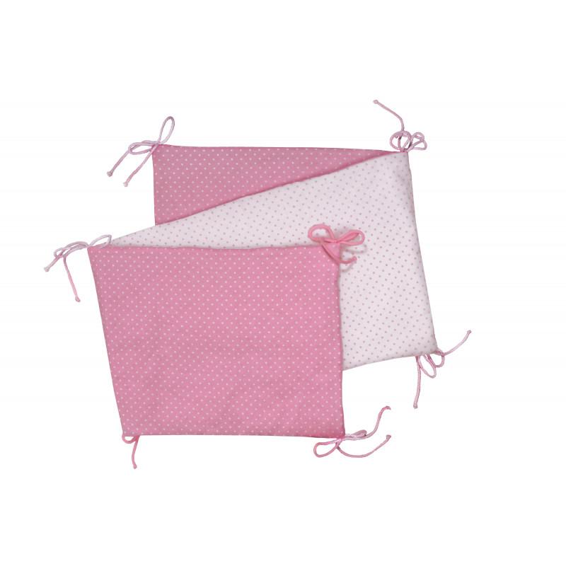 Skladaný mantinel, pink / little dots