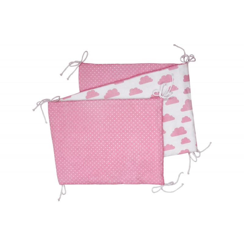 Skladaný mantinel, white / pink clouds